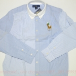 Big pony cotton oxford shirt (new with tag) Col : blue multi