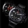 นาฬิกาSHARK Watch Great White Shark Black LED Quartz Ana-Digital สายแสตนเลสสีดำ 2 ระบบ