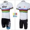 ชุดปั่นจักรยาน แบบชุดทีมแข่ง SKY สีขาว ขนาด L พร้อมส่งทันที รวม EMS