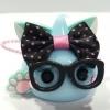 HXL018 น้องแก้มยิ้ม Hoppe chan Size XL ซีรีย์ แมว คาวอิ สีฟ้า