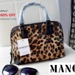 กระเป๋า MANGO Saffiano effect mini Tote Bag กระเป๋าถือ ลายเสือ สุด chic