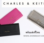กระเป๋าสตางค์ยาว Charles & Keith Wallet แท้ CK2-10770015 พร้อมส่ง หนัง Saffiano พร้อมส่ง ที่ไทย