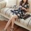 DR-LR-216 Lady Stella Femme Fatale Rose Print Dress thumbnail 7