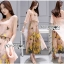 Lady Lydia Casual Feminine Butterfly Printed Set with Chiffon Maxi Outerwear L264-8501 thumbnail 5