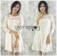 Lady Carolina Sweet Feminine Classic Floral Lace Dress in White L239-85E05 thumbnail 3