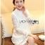 Lady Nara Classic Striped High-Neck Lace Dress L234-79C02 thumbnail 10