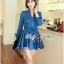 DR-LR-154 Lady Sarah Smart Casual Feminine Denim Shirt Dress thumbnail 12