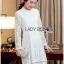 Lady Nara Classic Striped High-Neck Lace Dress L234-79C02 thumbnail 12