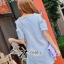 DR-LR-123 Snoopy Playful Polka Dots Denim Open-shoulder Mini dress thumbnail 9
