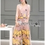 Lady Lydia Casual Feminine Butterfly Printed Set with Chiffon Maxi Outerwear L264-8501 thumbnail 6