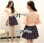 DR-LR-244 Lady Cara Sweet Preppy Girl Checked Dress thumbnail 2
