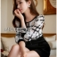 Lady Kim Smart Casual Check Embroidered Playsuit L272-7504 thumbnail 6