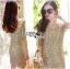 Lady Nicole Sophisticated Golden See-through Laser-cut Sequin Dress L214-89C03 thumbnail 5