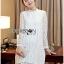Lady Nara Classic Striped High-Neck Lace Dress L234-79C02 thumbnail 13