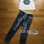 Lady Coco Camellia Denim Embroidered T-Shirt and Skinny Jeans Set L263-8904 thumbnail 13