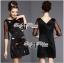 DR-LR-292 Lady Dree Monochrome Heart-Shaped Print Mini Dress thumbnail 4
