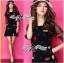 DR-LR-292 Lady Dree Monochrome Heart-Shaped Print Mini Dress thumbnail 1