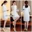 Lady Nara Classic Striped High-Neck Lace Dress L234-79C02 thumbnail 11