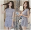 Lady Jessie Minimal Feminine Lace Sleeveless Top and Lace Shorts Set L268-7901 thumbnail 10