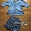 Lady Ashley Tribal Chic Denim Shirt and Printed Skirt Set L180-79C12 thumbnail 5