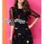 DR-LR-292 Lady Dree Monochrome Heart-Shaped Print Mini Dress thumbnail 2
