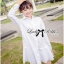 DR-LR-207 Lady Eva Basic Minimal Chic Flared Shirt Dress in White thumbnail 11