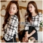 Lady Kim Smart Casual Check Embroidered Playsuit L272-7504 thumbnail 9