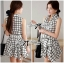 DR-LR-171 Lady Mary Checked Sleeveless Button Down Shirt Dress thumbnail 1