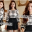Lady Kim Smart Casual Check Embroidered Playsuit L272-7504 thumbnail 3
