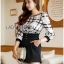 Lady Kim Smart Casual Check Embroidered Playsuit L272-7504 thumbnail 4