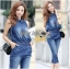 Lady Leslie Sleeveless Collar Studded Zippy Denim Jumpsuit L178-79C07 thumbnail 1