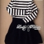 DR-LR-160 Lady Ballerina Stripe Black&White Mini Dress thumbnail 10