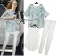 Lady Kate Marble Chiffon Top and White Leggings Set L119-79C12 thumbnail 2