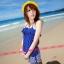 SM-V1-038 ชุดว่ายน้ำแฟชั่น คนอ้วน เด็ก ดารา thumbnail 6