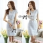 DR-LR-143 Lady Samantha Jewelled Neckline Lace Tube Dress with Belt thumbnail 4