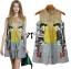 DR-LR-177 Lady Sally Graffity Mixed Print Dress thumbnail 8