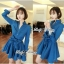 DR-LR-154 Lady Sarah Smart Casual Feminine Denim Shirt Dress thumbnail 13