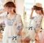 DR-LR-265 Lady Eliza Pretty Embroidered Brocade Kaftan Mini Dress thumbnail 1