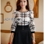 Lady Kim Smart Casual Check Embroidered Playsuit L272-7504 thumbnail 7