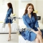 DR-LR-154 Lady Sarah Smart Casual Feminine Denim Shirt Dress thumbnail 2