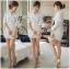 Lady Emily Basic Striped Shirt Dress in White thumbnail 4