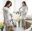 DR-LR-143 Lady Samantha Jewelled Neckline Lace Tube Dress with Belt thumbnail 8
