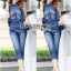 Lady Leslie Sleeveless Collar Studded Zippy Denim Jumpsuit L178-79C07 thumbnail 7