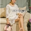 Lady Jen Feminine Laser-Cut and Embroidered Lace Dress in White L201-75C04 thumbnail 6