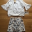 Lady Angie Cut-Out Embroidered Lace Cotton Top and Printed Skirt Set L268-791 thumbnail 17