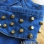 Lady Leslie Sleeveless Collar Studded Zippy Denim Jumpsuit L178-79C07 thumbnail 15