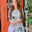 DR-LR-123 Snoopy Playful Polka Dots Denim Open-shoulder Mini dress thumbnail 4