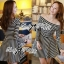 DR-LR-213 Lady Mandy Mixed Striped Easy Dress thumbnail 9
