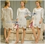 Lady Jen Feminine Laser-Cut and Embroidered Lace Dress in White L201-75C04 thumbnail 5