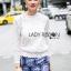 Lady Becca Smart Elegant High-Neck White Lace Blouse L254-69C02 thumbnail 3